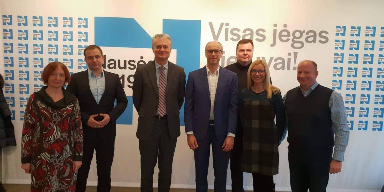 Susitikimas su kandidatu į prezidentus G.Nausėda