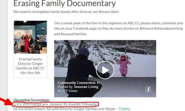 Filmo Erasing Family peržiūra -šiandien